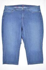 Not Your Daughter's Size 22W Ariel Crop Woman Dark Wash Denim Plus Jeans