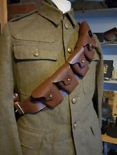 More details for british military 1903 pattern 9 pouch ww1 leather bandolier.