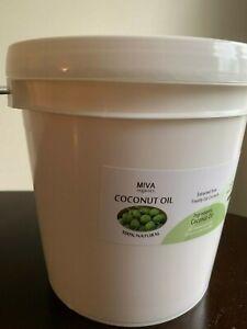 COCONUT OIL - 100% NATURAL, RAW PURE & UNREFINED - 1 GALLON BUCKET (8 LBS)
