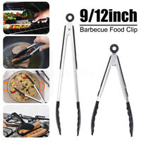 9/12'' Barbecue Clip Stainless steel Silicone Food Tongs BBQ Clamp Cooking Tool