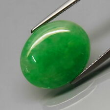 8.85Ct.Genuine! Natural Green Jadeite Jade MaeSai,Thailand Oval Cabochon
