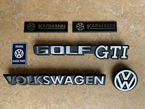 Mk1 Golf GTI Cabriolet Sportline Rivage Karmann FULL Badge SET NEW OEM