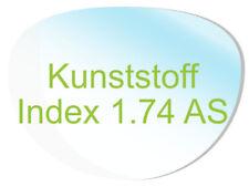 2 Brillengläser Kunststoff (Index1,74 AS) Super-ET, Hartschicht, CleanCoat