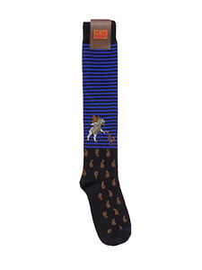 Etro Men's Blue Paisley Print Socks $100