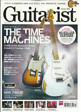 GUITARIST MAGAZINE, THE TIME MACHINES  APRIL, 2016  ISSUE, 405 (50KILLER GUITARS