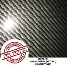 "HYDROGRAPHIC WATER TRANSFER HYDRO DIP FILM CARBON FIBER 15 1SQ (19"" X 78"")"