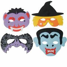 Kids Halloween EVA Foam Masks Monster Witch Bat Vampire Fancy Dress - Set of 4