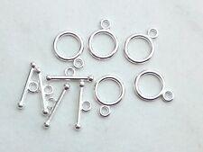 T-Schließe versilbert 12mm neu Verschlüsse Perlen 1062