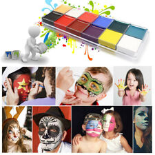 12 Colors Face Body Oil Painting Art Make Up Set For Halloween Party Fancy Kit