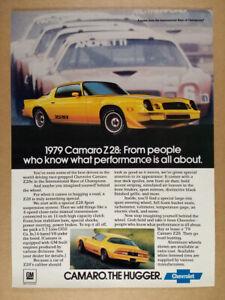 1979 Chevrolet Camaro Z28 yellow car photos vintage print Ad