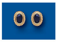 Sapphire Oval Earrings Solid Gold Stud 9 Carat Hallmarked Studs Natural Stones