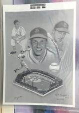 Stan Musial Print Stan the Man signed by artist Daryl Benningfield Artist Proof