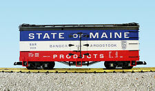 Usa Trains G Scale R16006A-D Reefer State of Maine Choice Of Rd #'S New Release