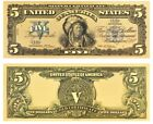 1899 SILVER CERTIFICATE  INDIAN CHIEF  $5 Rep.*Banknote