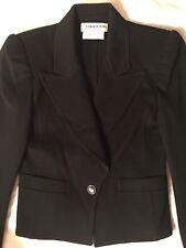 Sonia Rykiel Bergdorf Goodman Vintage Wool Black with Shoulder Pads Blazer Small
