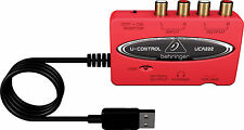Behringer U-CONTROL UCA222 Ultra-Low Latency 2 In/2 Out USB Audio Interface with Digital Output