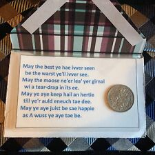 Scottish - Wallet Card - Wedding - To Wish Luck - Silver Sixpence - Poem