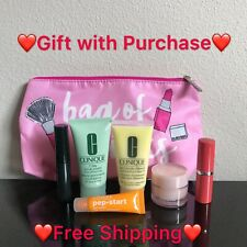 NEW Clinique 6 PCS Travel Size Makeup Skincare Samples Gift Set with Bag