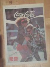 Coca Cola Coke is it! 1986 press advert Full page 28 x 39 cm poster