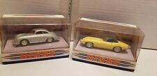 DINKY MATCHBOXES 1967 JAGUAR E & 1958 PORSCHE 356A 1/43 SCALE DIE CAST CARS
