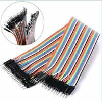 40PCS Dupont wire jumpercables 20cm 2.54MM male to male 1P-1P For Arduino