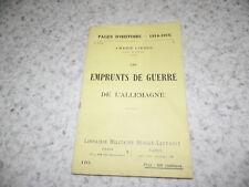 1917.Pages d'histoire 110.Emprunts de guerre de l'Allemagne.14-18.Liesse