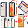 For iPhone 11 12 Pro Max Armor Case Heavy Duty Phone Cover W/ Screen Protector