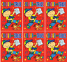 Set 6 x A4 Colour & Trace Books Childrens Activity Party Bag Gifts Red Cover 630