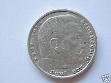 Germany 5 Reichsmark-/president Paul von Hindenburg / A-1935-silver.