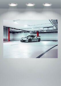 Alfa Romeo 4C Nemesis Super Car Large Poster Art Print A0 A1 A2 A3 A4 Maxi