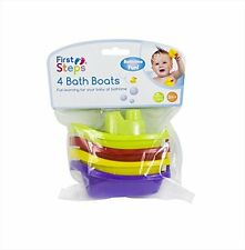 First Steps Bath Boats (Multicoloured, Pack of 4)