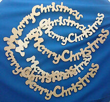 laser cut Merry Christmas wreath craft greeting bough unfinished set of 7
