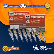 8pcs Set MOTORCRAFT SPARK PLUGS SP493 Platinum AGSF32PM For FORD 4.6L 5.4L V8