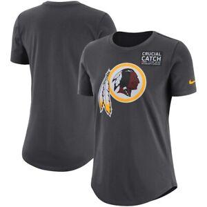 Washington Redskins Short Sleeve Gray Tee Nike Dri Fit NFL Crucial Catch T-Shirt