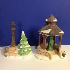 Dept 56 Heritage Village TOWN WELL AND HOLY CROSS w/ box Combine Shipping!