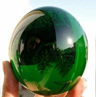 2pcs 40MM  Natural Green Obsidian Sphere Large Crystal Ball Healing Stone