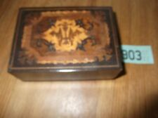 Vintage inlaid musical jewellery box music box