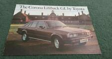 Abril 1979 Toyota Corona 1800 GL Liftback-Reino Unido Folleto De Color