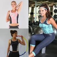 Women Fitness Gym Exercise Top Ladies Running Yoga Pilates Clothes Sportswear