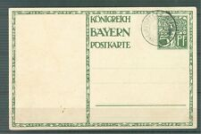 Germany Reich Early cover Bayern 1911 used Rrr