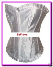 White Satin chérie Corset, Taille: Large (UK12)