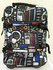 Eastpak Rolling Backpack Expandable Luggage Unique Printed Images Calculator Pen