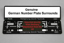 Audi Genuine OEM Car Number Plates & Surrounds
