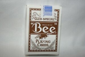 Sealed Deck of Cards used at Bellagio Casino Club Special Bee Playing Cards