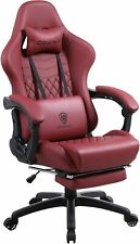 New listing Gaming Chair Office Desk Chair with Massage Lumbar Support, Vintage Style Armcha