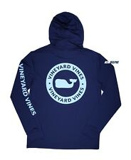 Vineyard Vines Men's Performance Whale Dot Blue Hoodie L/s T-shirt 2xl