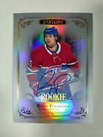 2019-20 Upper Deck Stature Ryan Poehling Rookie Auto 194/199 Canadiens RC #159