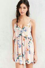Alice & UO Heaven Ruffle Mini Dress Urban Outfitters Floral Multicolor Sz 6