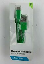 CellCandy - Charge and Sync Cable for Micro USB ( 3ft Green )