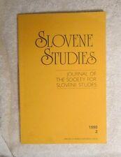 Slovene Studies Journal of Society Croci Kristen Priestly Lencek Necak Pirjevek